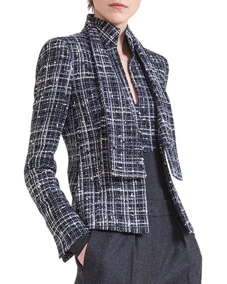 Boucle Shawl-Collar Jacket