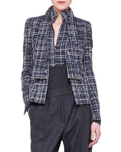 Akris Boucle Shawl-Collar Jacket