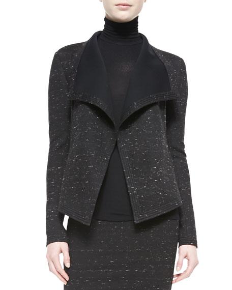 Donna Karan Sculpted Knit Clutch Jacket
