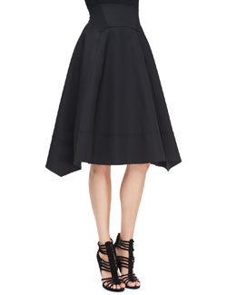 Donna Karan Full-Skirt with Nylon Hem