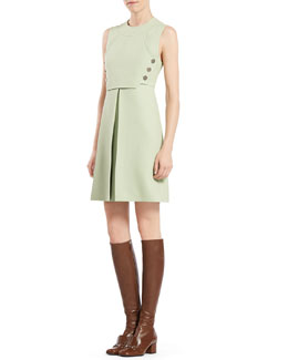 Gucci Wool Silk Sleeveless Dress