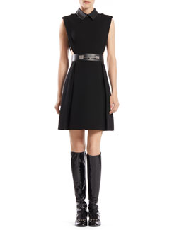 Gucci Belted Sleeveless A-Line Dress