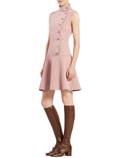 Gucci Asymmetric Sleeveless Dress