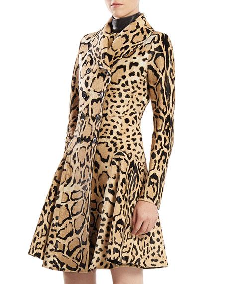 Leopard Print Calf Hair Coat