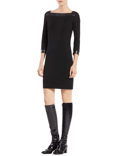 Gucci Three-Quarter-Sleeve Viscose Dress