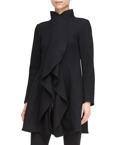 Armani Collezioni Double-Knit Cascade-Front Jacket