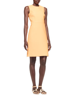 Victoria by Victoria Beckham Sleeveless Techno Shift Dress