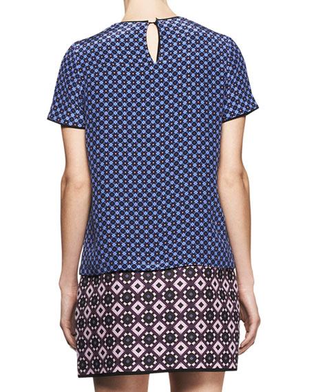 Mixed-Jacquard T-Shirt Mini Dress