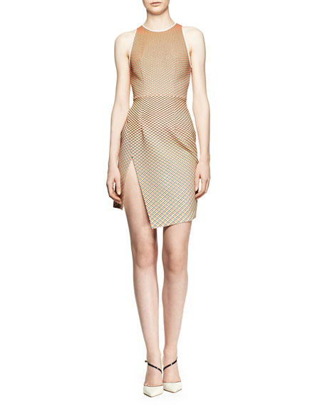 Sleeveless Cycle Wrap Day Dress