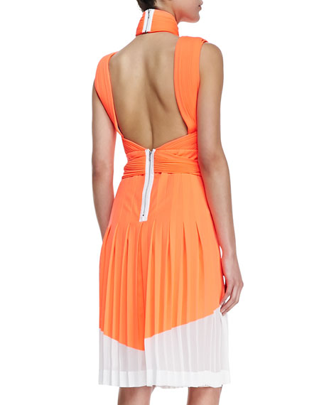 Neo Pleated Interlock Dress