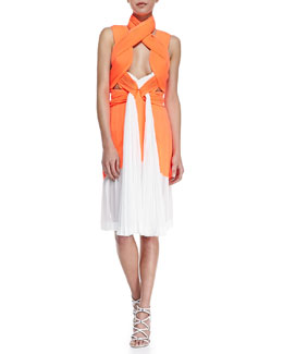 Dion Lee Neo Pleated Interlock Dress