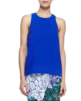 Dion Lee Sleeveless Neck-Ring Open-Back Top