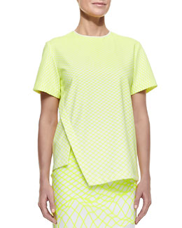 Dion Lee Printed Cycle Wrap Tee