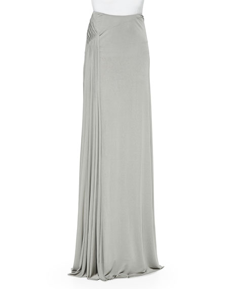 Jacinda Draped Long Skirt