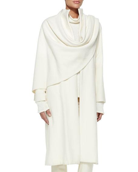 Marielle Drape-Panel Coat