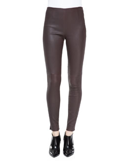 Ralph Lauren Black Label Abbey Stretch Leather Pants