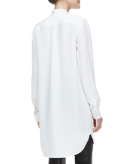 Calgary Long-Sleeve Silk Tunic