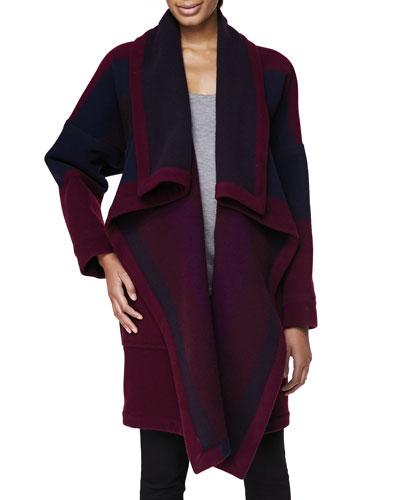Burberry Brit Blanket Coat, Claret