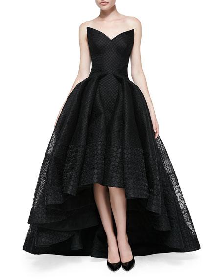 High-Low Cat-Eye Ballgown, Black