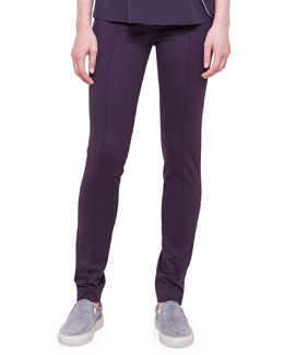 Akris punto Mara Knit Leggings, Purple