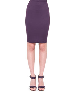 Akris punto Back-Zip Jersey Pencil Skirt, Purple