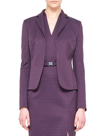Punto Jacquard Jacket, Purple