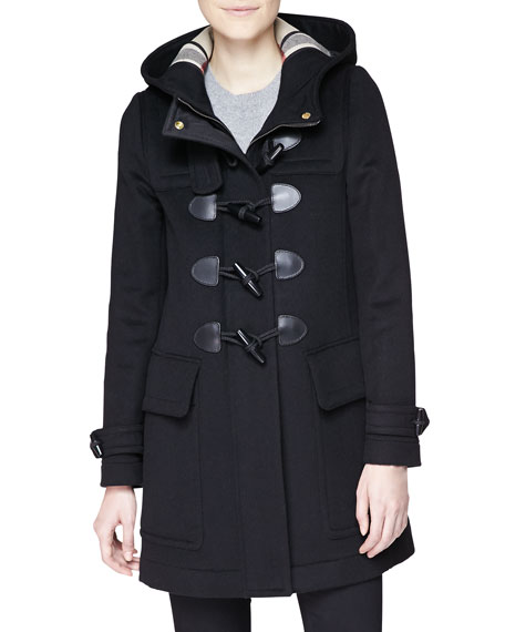 burberry finsdale hooded duffle coat w toggles neiman. Black Bedroom Furniture Sets. Home Design Ideas