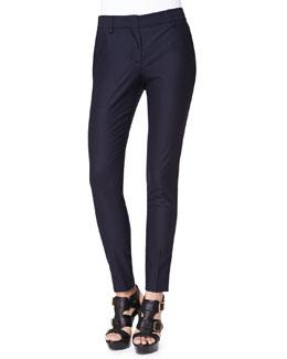 Burberry Brit Modern Tailored Wool-Blend Pants, Navy
