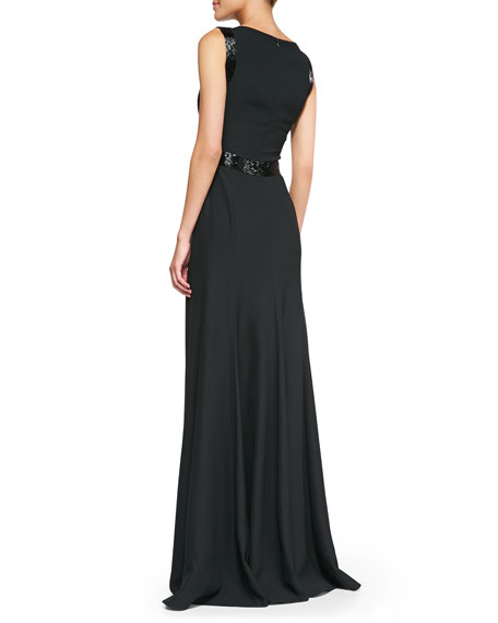 Beaded Techno Cady Gown