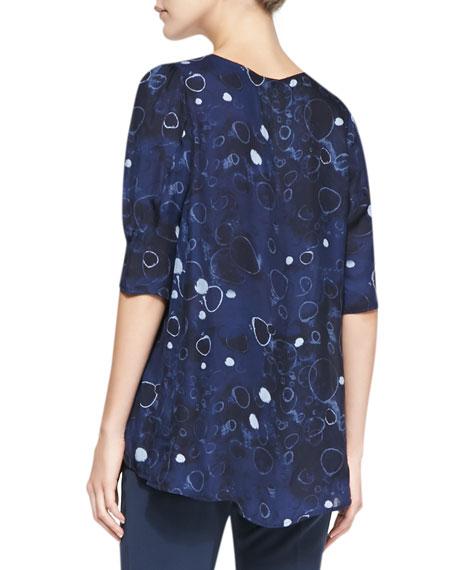 Sparkle Moon Printed Silk Blouse