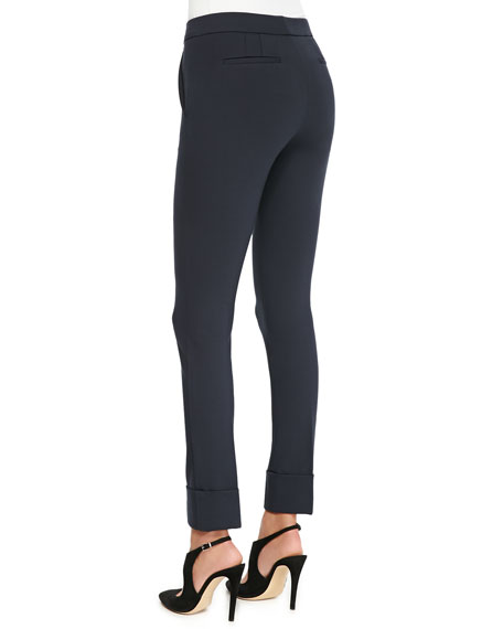Cuffed Jersey Pants, Blue