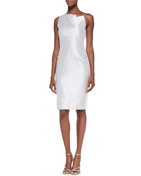 Cixius Folded-Bodice Dress