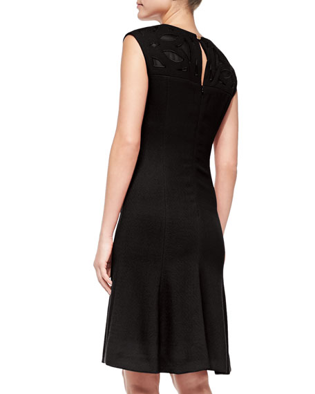 Sleeveless V-Neck Dress with Cutouts