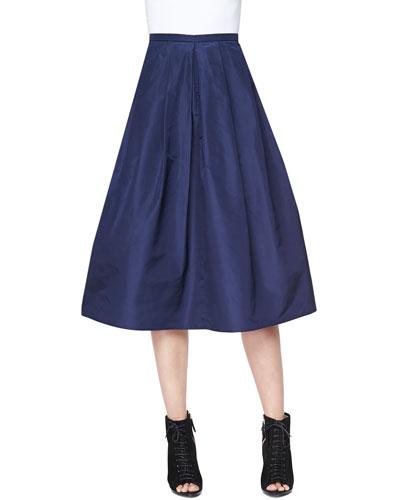 Burberry London Full Pleated Pocket Skirt