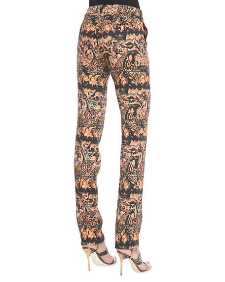 Stretch Stencil Paisley Pants