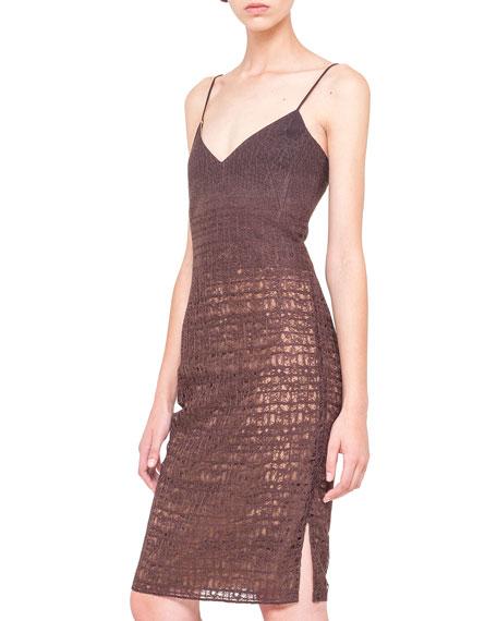 Sleeveless Fusion-Embroidery Dress