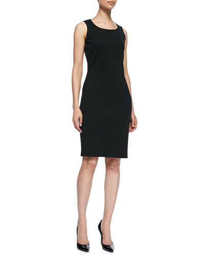 Sleeveless Mid-Length Dress, Caviar