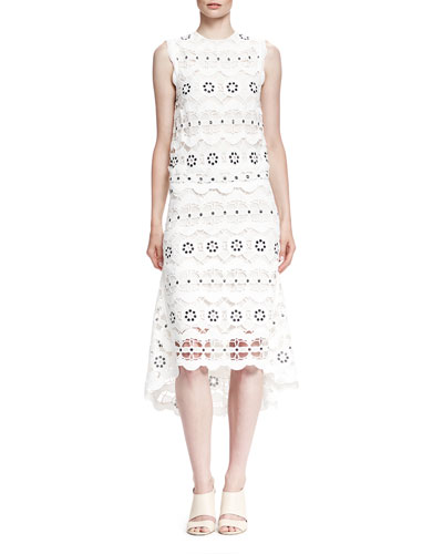 Sleeveless Guipure Lace Spring Dress