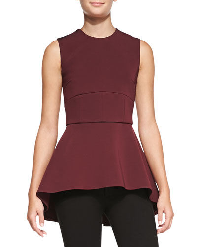 Cushnie et Ochs Sleeveless Peplum Tunic Top