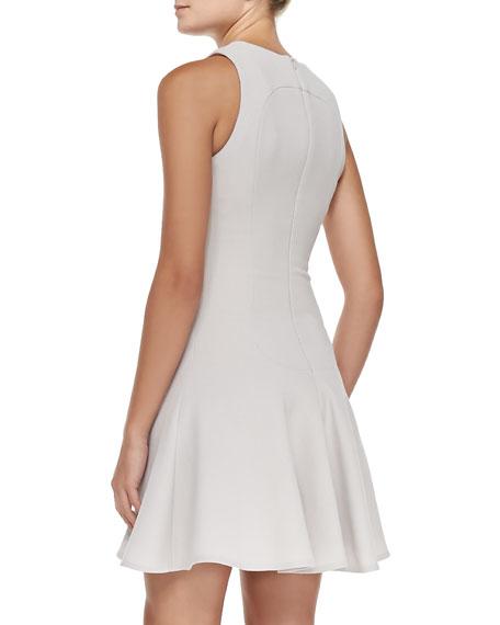 Fluted Seamed A-Line Dress