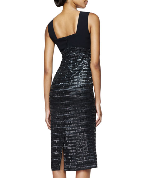 Embroidered Evening Dress, Black