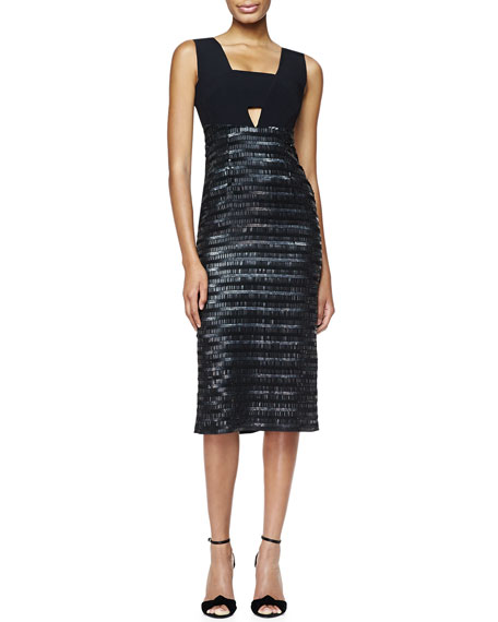 Burberry London Embroidered Evening Dress, Black
