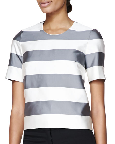 Burberry London Stripe Round-Neck T-Shirt