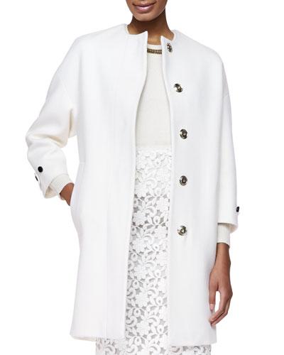 Cashmere Golden-Button Oversize-Coat