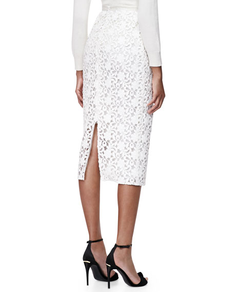 Burberry London Lace Midi-Length Pencil Skirt