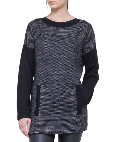 Akris punto Knit Tunic with Front Pockets