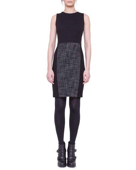 Akris punto Tweed-Panel Sheath Dress