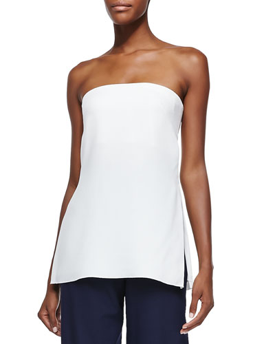 Adam Lippes Strapless Bustier Top W/ Vented Sides