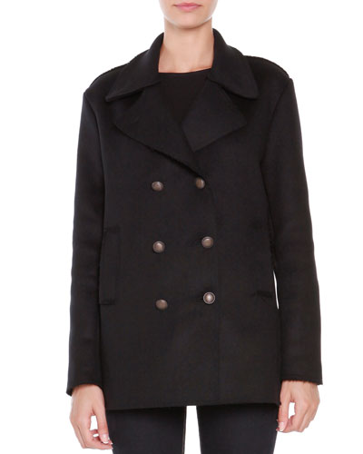 Compact Wool-Blend Peacoat