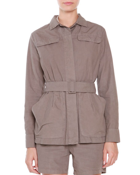 Tomas Maier Cotton Belted-Front Jacket